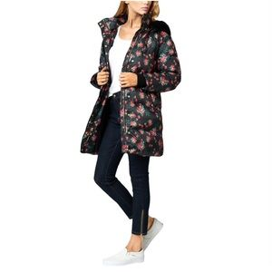 Juicy Couture Floral Hooded Puffer Winter Coat